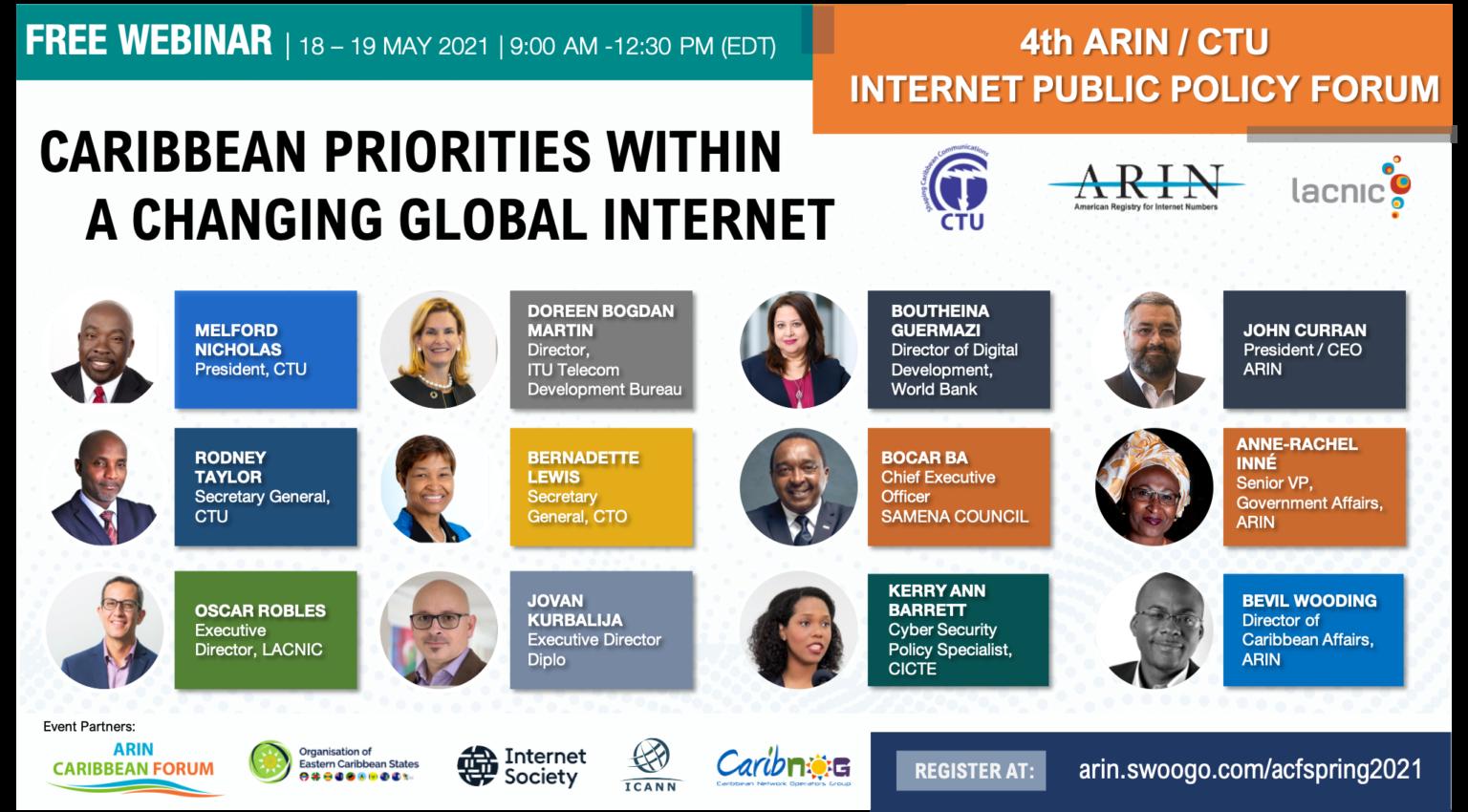 ARIN CTU 2021 Internet Public Policy Forum Flyer